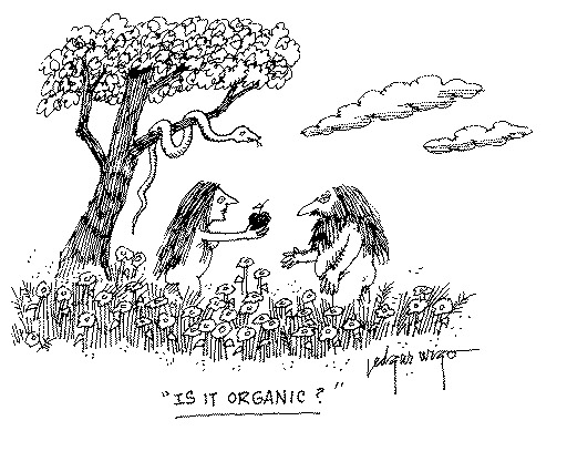 Funny food religion garden cartoon, April 12, 1995