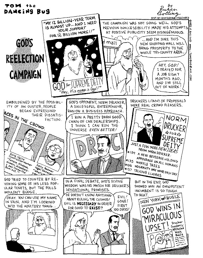 Funny commandments god accountant  cartoon, April 26, 1995