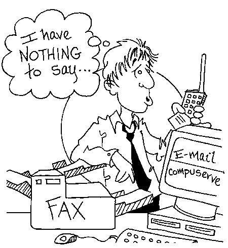 Funny computer machine phone cartoon, May 17, 1995