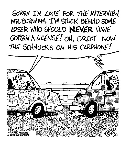 Funny traffic car pigs  cartoon, June 07, 1995