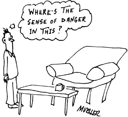 Funny mueller coffee danger  cartoon, October 18, 1995