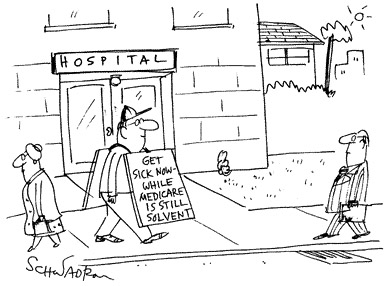Funny Harley Schwadron health  cartoon, December 13, 1995