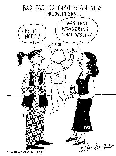 Funny death office drunk  cartoon, February 14, 1996