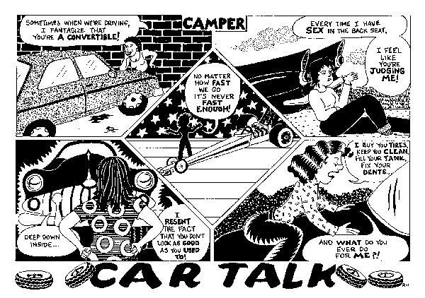 Funny car office cars cartoon, February 21, 1996
