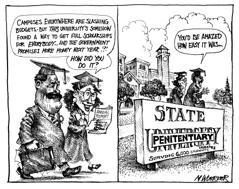 Funny matt wuerker student cartoon, July 03, 1996