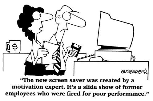 Funny computer office Randy  cartoon, August 21, 1996