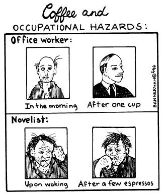 Funny bannerman coffee communication cartoon, September 18, 1996