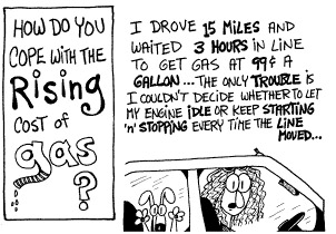 Funny gas gasoline oil  cartoon, November 13, 1996