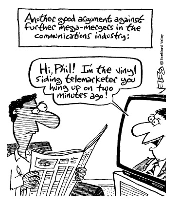 Funny brad veley television  cartoon, December 18, 1996