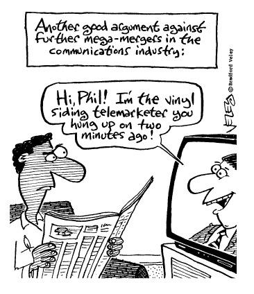 Funny brad veley television  cartoon, December 18, 1996