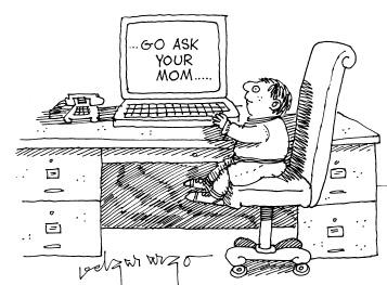 Funny computer kids parents  cartoon, January 22, 1997