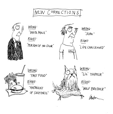 Funny work politically correct  cartoon, February 05, 1997
