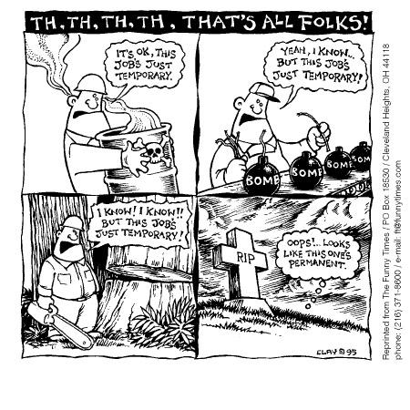 Funny temp environment job  cartoon, May 07, 1997