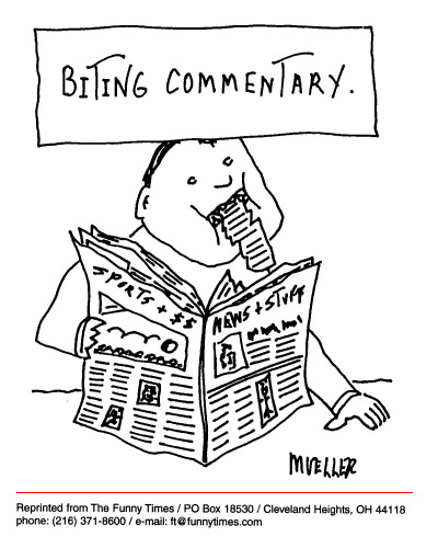 Funny mueller PS news  cartoon, July 09, 1997