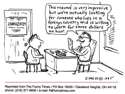 Funny office David Sipress cartoon, July 30, 1997