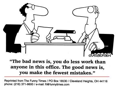 Funny office Glasbergen job  cartoon, August 06, 1997