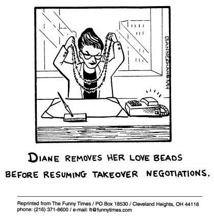 Funny love office negotiations  cartoon, September 10, 1997