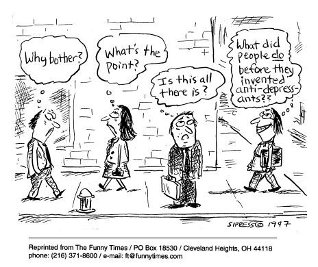 Funny David Sipress psychiatry  cartoon, October 01, 1997