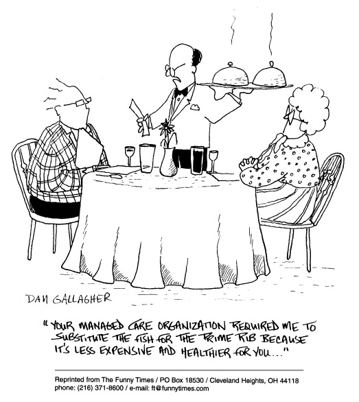 Funny food dan restaurant  cartoon, November 12, 1997