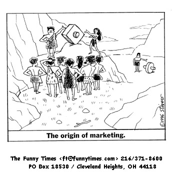 Funny stivers Mark marketing  cartoon, December 10, 1997