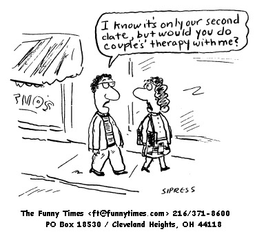 Funny David Sipress psychology cartoon, February 11, 1998