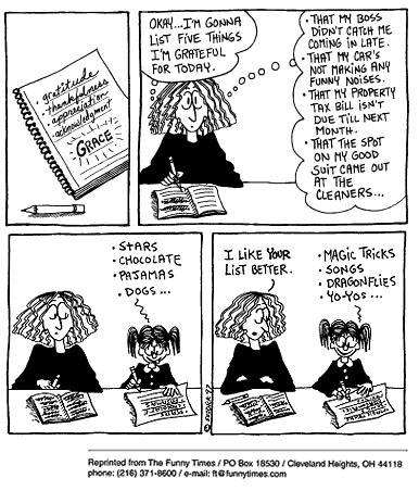 Funny kids parents gratitude  cartoon, April 15, 1998