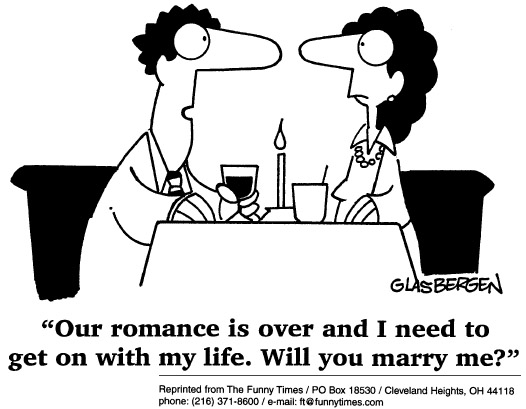 Funny marriage life love  cartoon, June 24, 1998