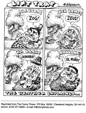 Funny wuerker science weather  cartoon, July 08, 1998