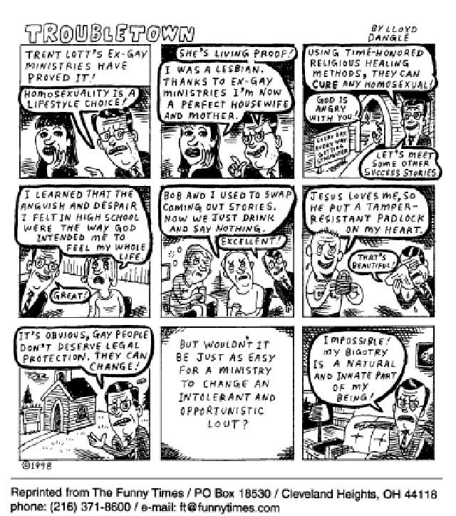 Funny religion media lloyd  cartoon, October 14, 1998