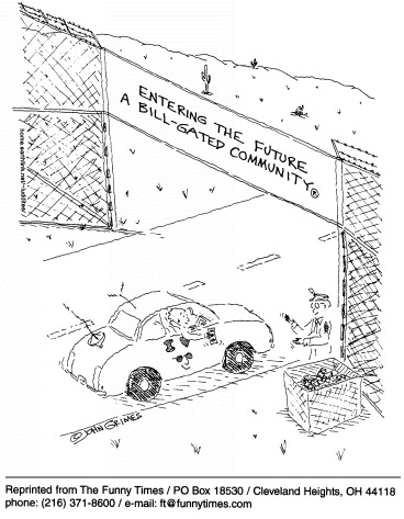 Funny john grimes Bill  cartoon, January 13, 1999