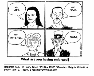 Funny surgery stivers enlarged  cartoon, March 03, 1999