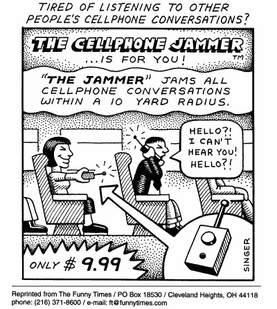 Funny singer cellphone phones  cartoon, March 24, 1999