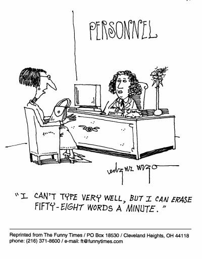 Funny job personnel skills  cartoon, April 28, 1999