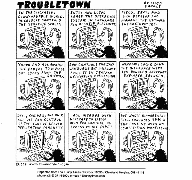 Funny progress lloyd dangle  cartoon, May 12, 1999