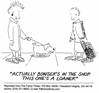 Funny dog pet stress cartoon, June 09, 1999