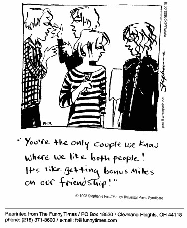 Funny Piro couples friendship  cartoon, June 30, 1999