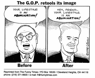 Funny gay stivers image  cartoon, July 14, 1999