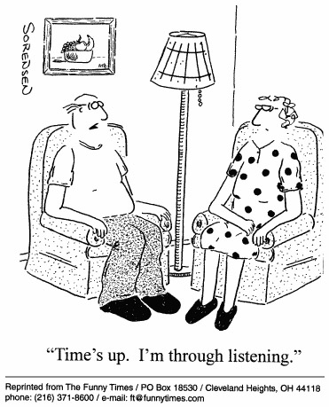 Funny marriage love sorensen  cartoon, July 28, 1999