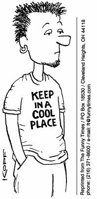 Funny kopf cool retirement  cartoon, August 04, 1999