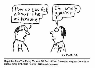 Funny Sipress millenium  cartoon, September 01, 1999
