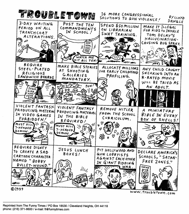 Funny marriage gay org  cartoon, September 22, 1999