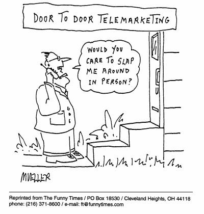 Funny doctor mueller marketing  cartoon, October 27, 1999