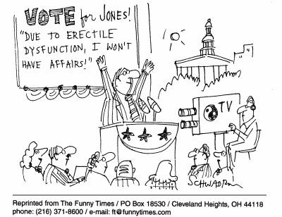 Funny sex Schwadron retirement  cartoon, November 10, 1999
