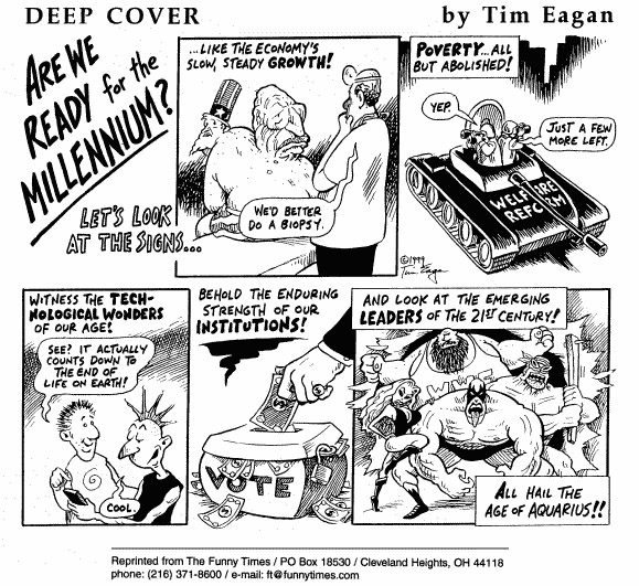 Funny Tim health drugs  cartoon, January 19, 2000