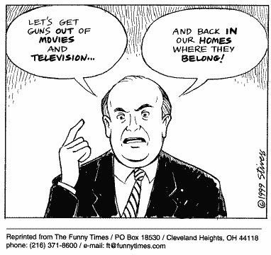 Funny control stivers television  cartoon, February 23, 2000