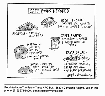Funny food foods decoded  cartoon, March 22, 2000