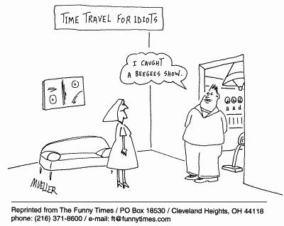 Funny mueller idiots travel  cartoon, April 19, 2000