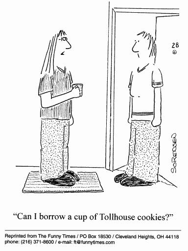 Funny food cooking sorensen  cartoon, May 10, 2000