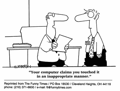 Funny computer office Glasbergen  cartoon, June 07, 2000