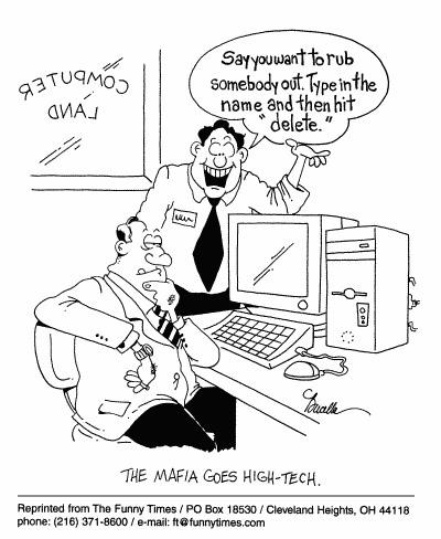 Funny computers technology future cartoon, July 12, 2000